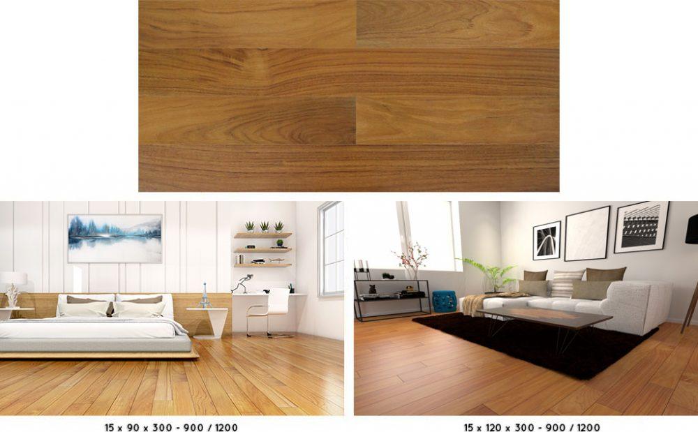 lantai kayu solid jati parket